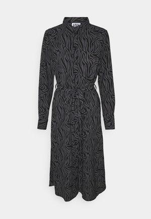 JDYPIPER ABOVE CALF DRESS - Shirt dress - black