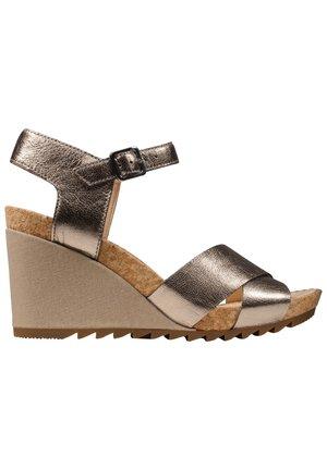High heeled sandals - steinbeige