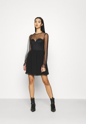 RITZY DOT SKATER DRESS - Sukienka koktajlowa - black