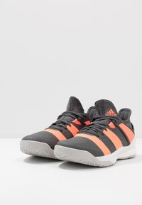 adidas Performance - STABIL X - Handball shoes - grey six/signal coral/grey two - 2