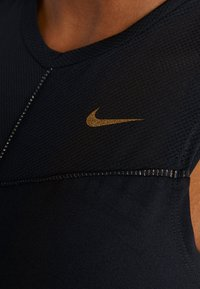 Nike Performance - FIERCE TANK - Funkční triko - black/metallic gold - 5