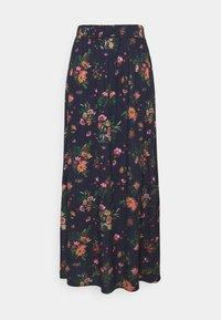 Vila - VIBILLY LONG FLOWER SKIRT - Maxi skirt - navy blazer/red - 3