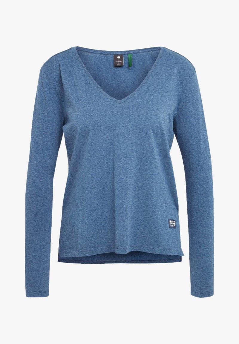 G-Star - CORE STRAIGHT - Long sleeved top - worn in kobalt htr