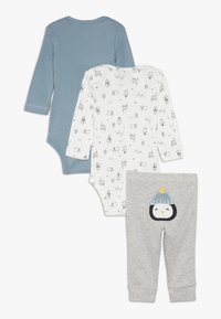 Carter's - WASHCLOTH BOY BABY SET - Pantalones - grey/blue - 1