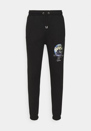 GLOBE UNISEX - Tracksuit bottoms - black