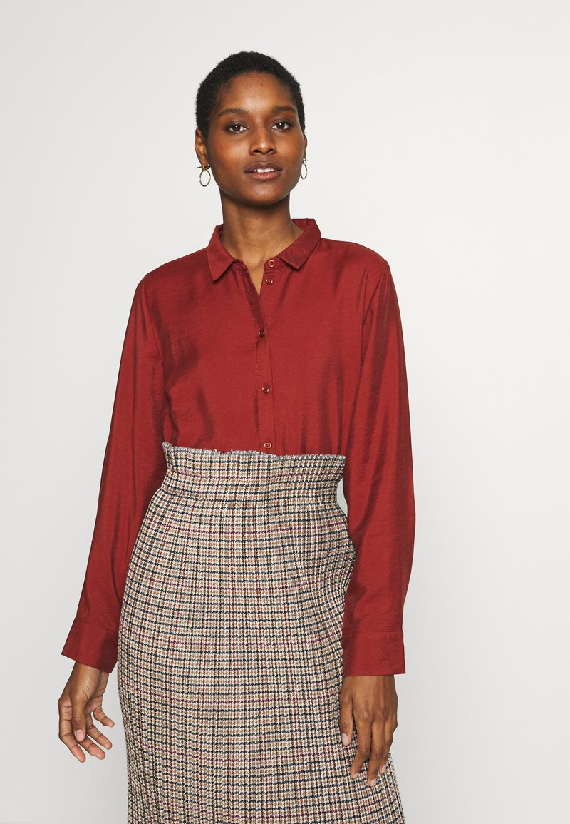 Re.draft - CLASSIC BLOUSE - Button-down blouse - toffee