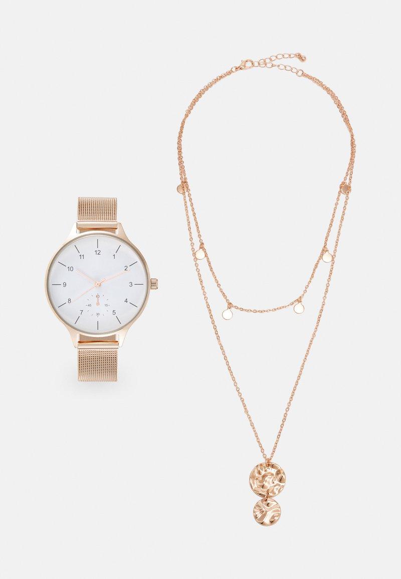 Even&Odd - SET - Watch - rosegold-coloured