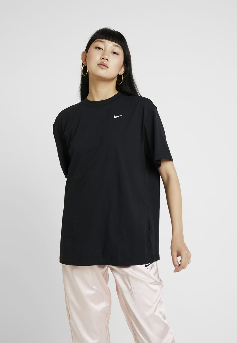 Nike Sportswear - Basic T-shirt - black/white