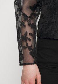 Gina Tricot - YLVA BLOUSE - Long sleeved top - black - 5