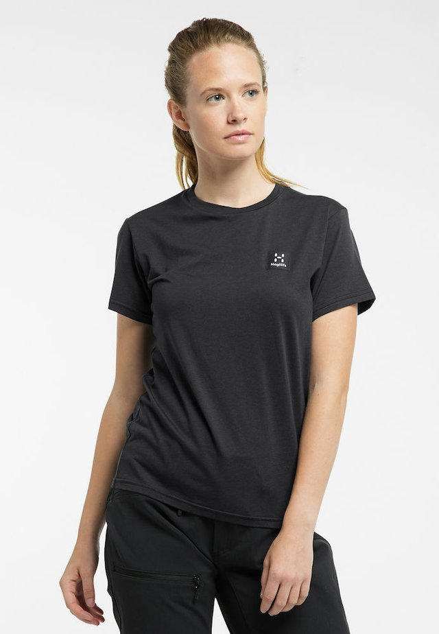LYOCELL H TEE - Basic T-shirt - true black