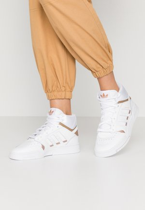 DROP STEP  - Korkeavartiset tennarit - footwear white/copper metallic