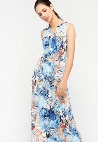 LolaLiza - FLORAL AND LEOPARD PRINT - Maxi dress - light blue - 4