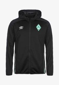 Umbro - Zip-up hoodie - black / ice green - 0