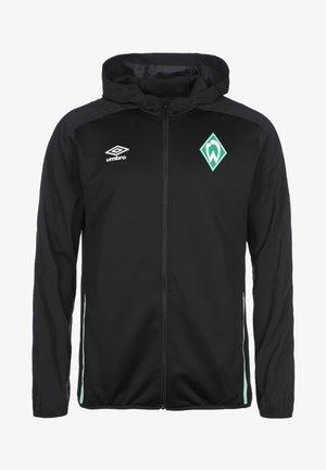 Zip-up sweatshirt - black / ice green