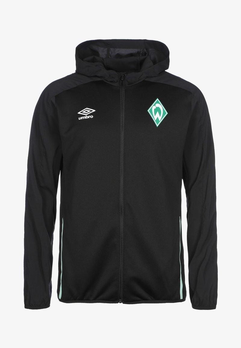 Umbro - Zip-up hoodie - black / ice green