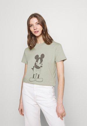 CLASSIC MICKEY - Print T-shirt - light sage