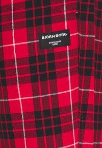 Björn Borg - BIG CHECK PYJAMA PANT PERCY - Pyžamový spodní díl - true red - 2
