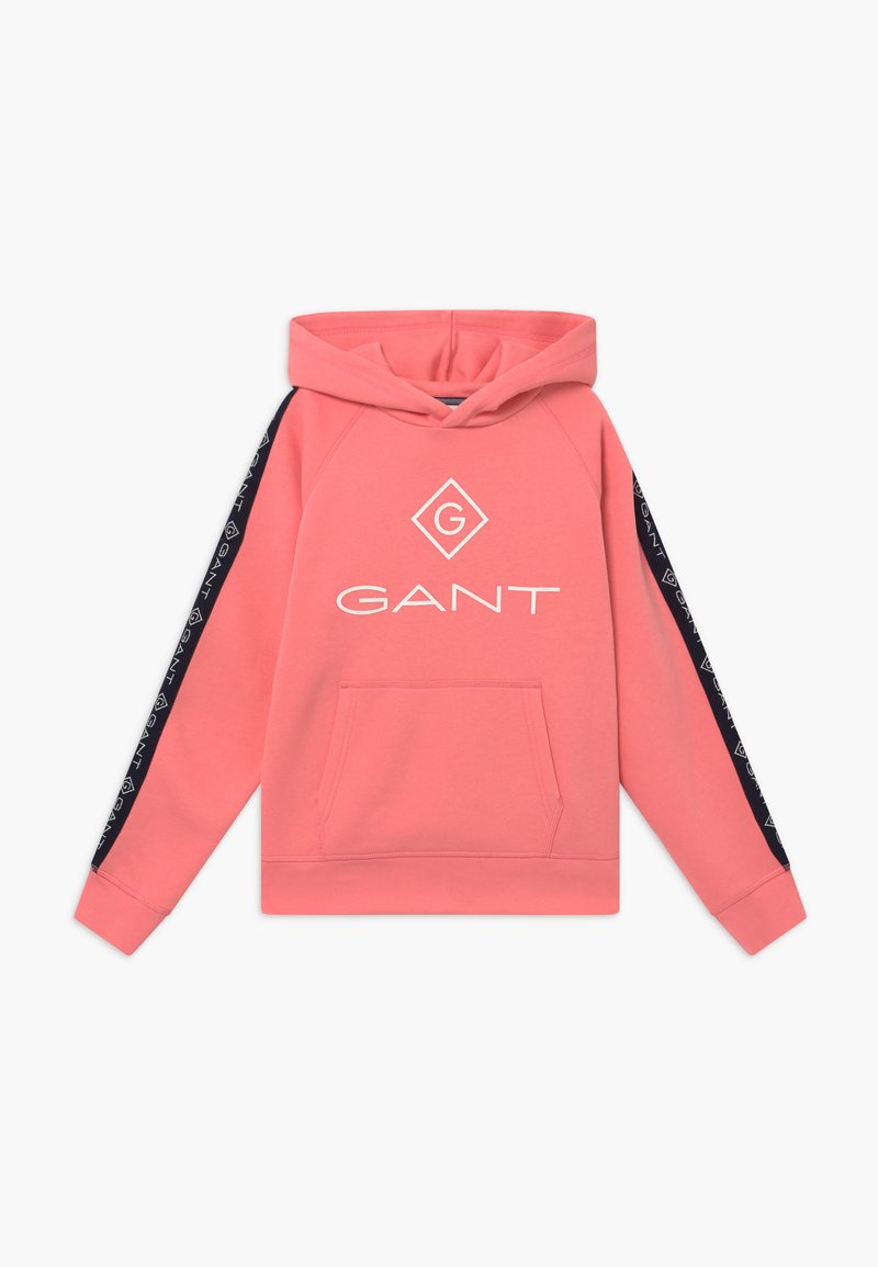 GANT - LOCK UP STRIPE HOODIE - Hoodie - strawberry pink