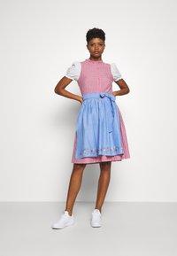 ONLY - ONLELLY CHECK  DRESS - Dirndl - cloud dancer/red - 1