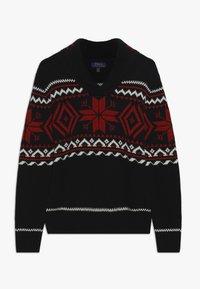 Polo Ralph Lauren - SHAWL - Strickpullover - black/multi - 0