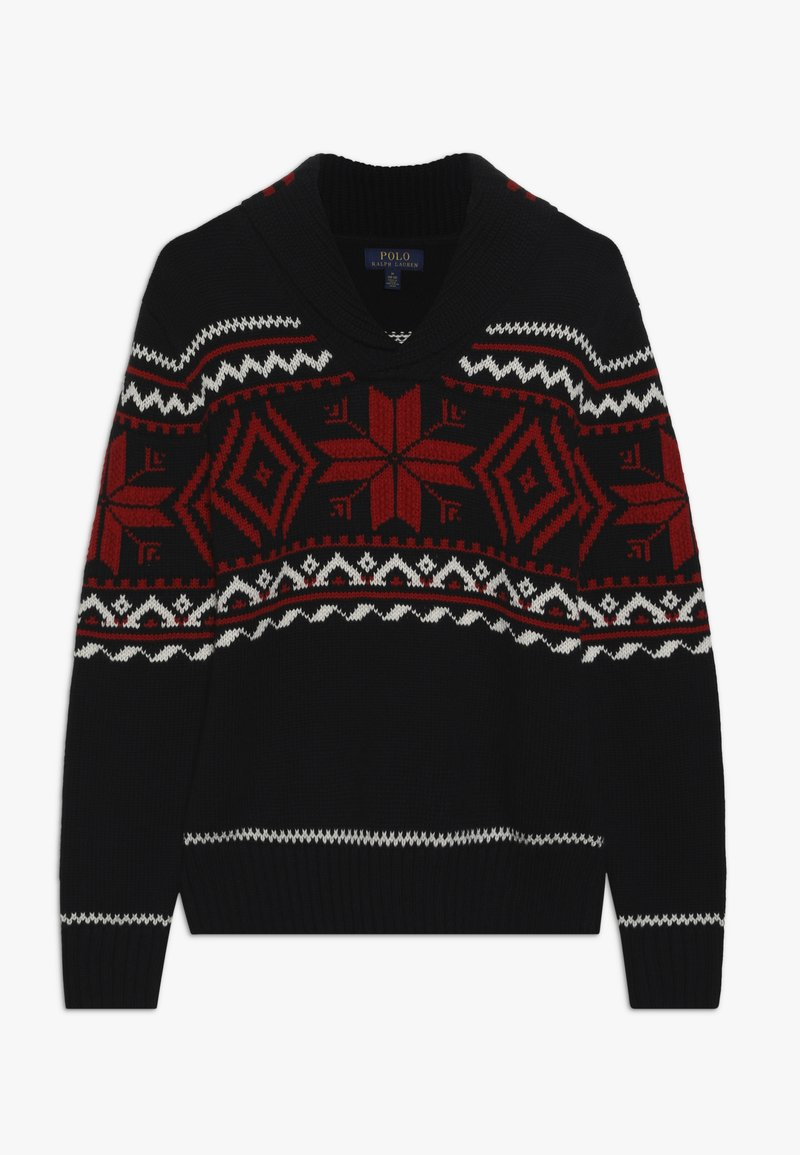 Polo Ralph Lauren - SHAWL - Strickpullover - black/multi