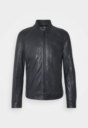 MELBOURNE - Leather jacket - dark navy