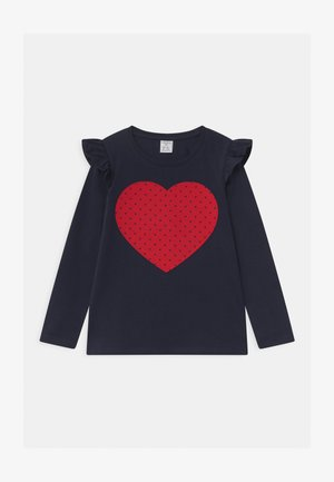 MINI HEART NAVY - Long sleeved top - navy
