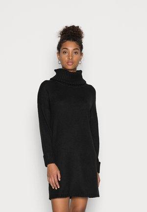 ROLLNECK - Strikket kjole - black