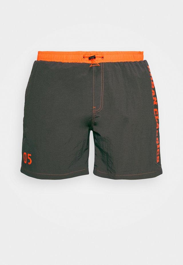 LOGO SWIM - Swimming shorts - darkshadow