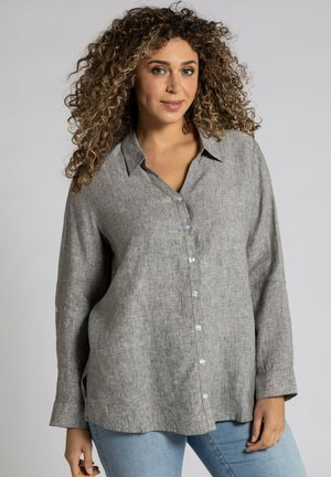 Button-down blouse - gris clair chiné