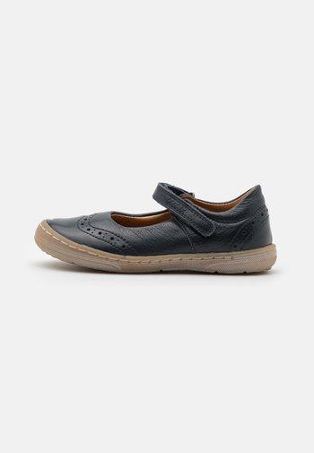 MARI - Ankle strap ballet pumps - dark blue