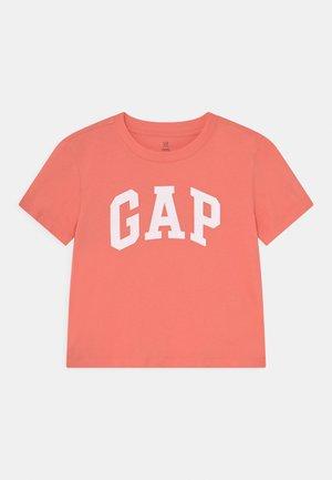GIRLS LOGO UPDATE - T-shirt print - neon coral volt