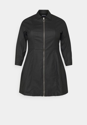 PCROXY ZIP COATED DRESS - Day dress - black