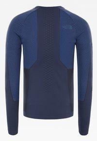 The North Face - M SPORT L/S CREW NECK - Print T-shirt - urban navy/tnf blue - 1