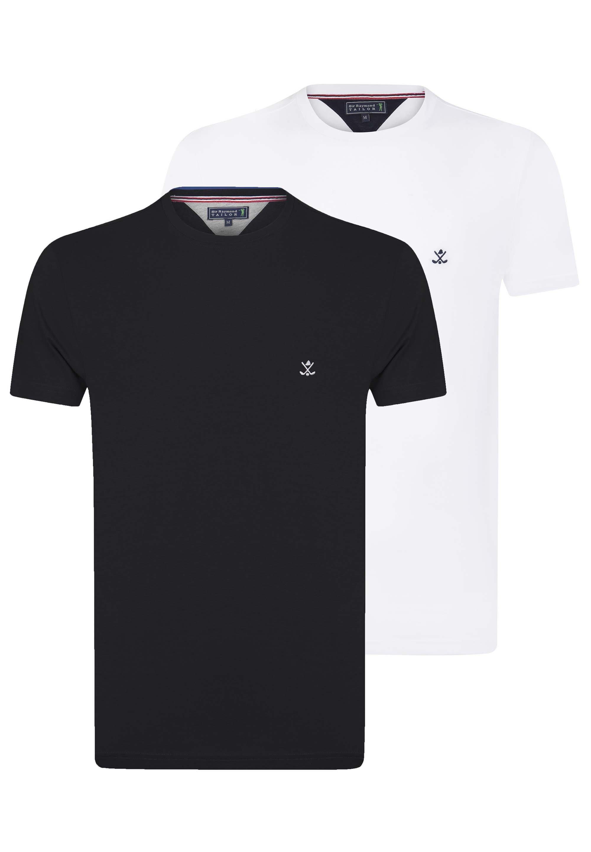 Homme SHORT SLEEVE 2ER PACK - T-shirt basique