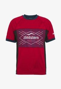Zimtstern - TECHZONEZ MEN - Printtipaita - jester red/french navy/glacier grey - 3