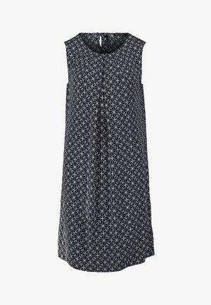 FREIZEITOHNE ARM - Day dress - dunkelblau/weiß