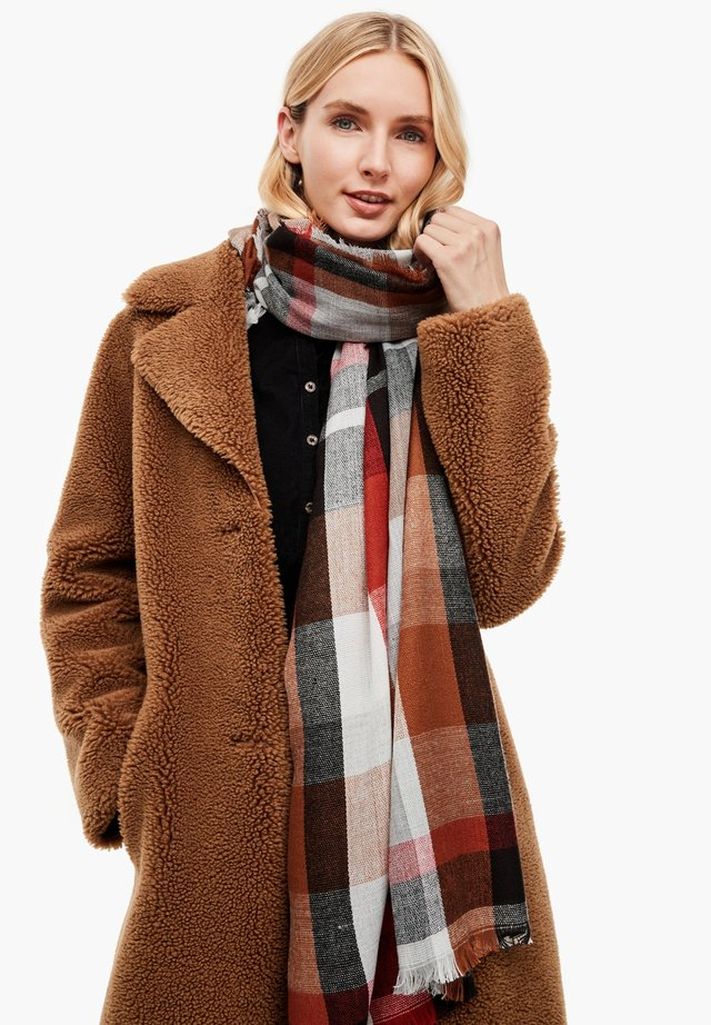 Scarf - brown check
