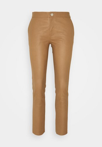 LEYA - Kožené kalhoty - golden camel