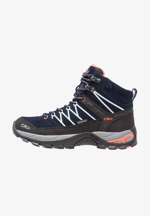 RIGEL MID TREKKING SHOE WP - Hiking shoes - blue/giada/peach
