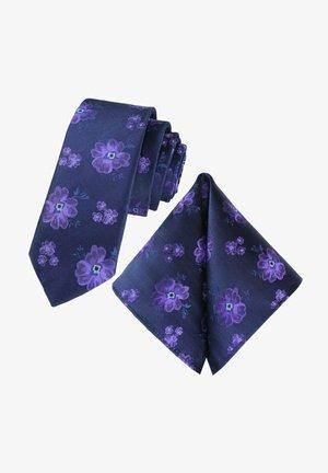 SET - Pocket square - dark blue, mauve, lilac
