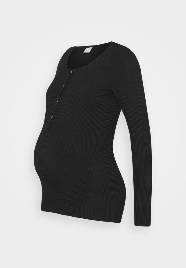 MLELLEN LIA - Långärmad tröja - black