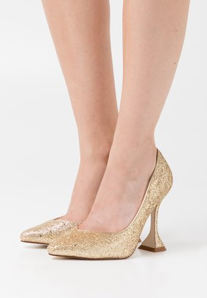 MONICA - Højhælede pumps - gold glitter