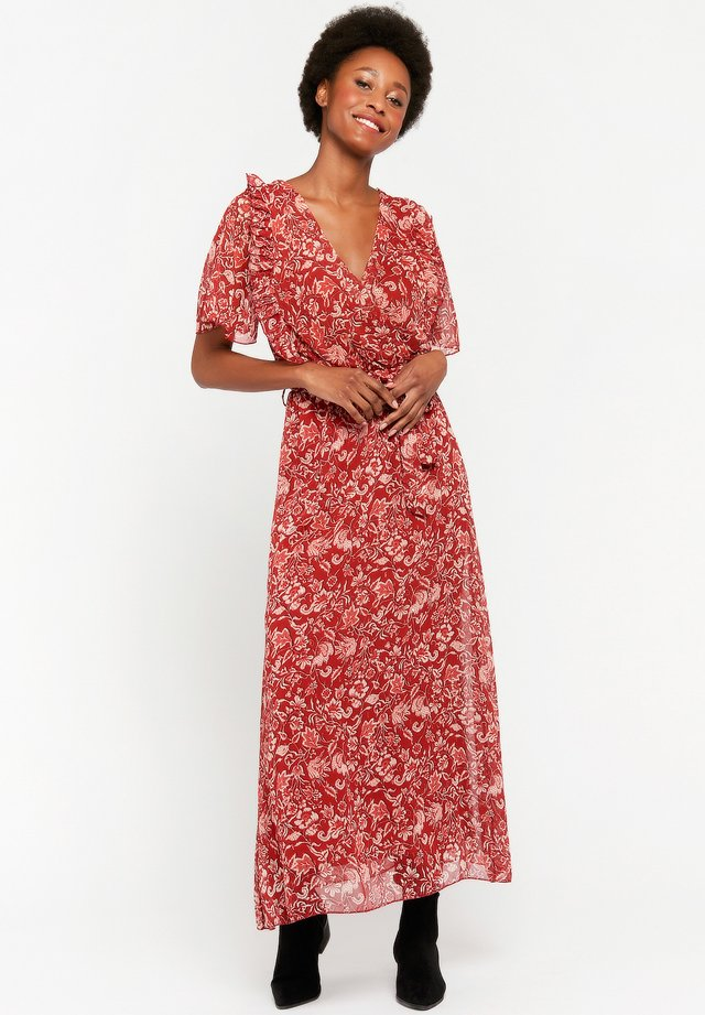 WITH FLOWER PRINT - Robe longue - red