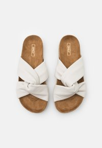 ONLY SHOES - ONLMIRA KNOTTED FLATFORM  - Mules - white - 5