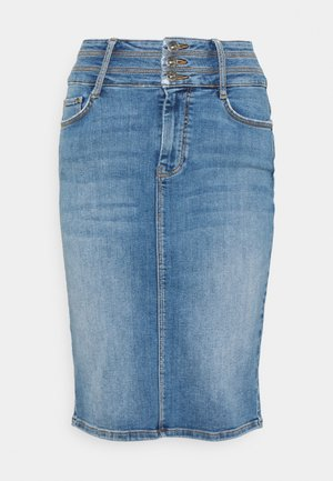 ONLODA LIFE - Denim skirt - light blue denim
