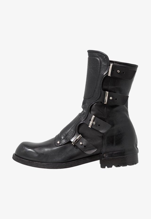 SHIELD - Kowbojki i obuwie motocyklowe - nero