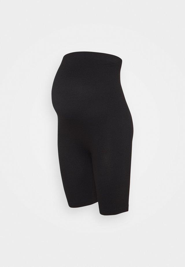 Seamless maternity cycling shorts - Kraťasy - black