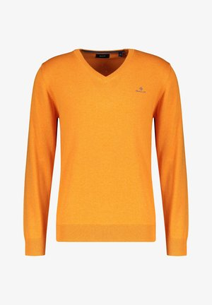 CLASSIC COTTON V-NECK - Jumper - orange (33)
