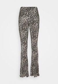 Topshop - ZEBRA PLISSE FLARE - Trousers - monochrome - 1